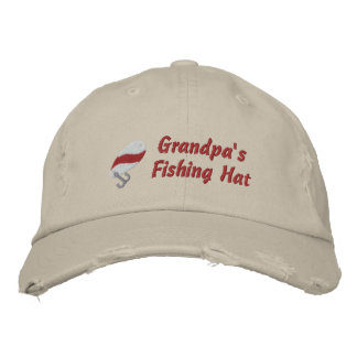Grandpa's Fishing Hat Customisable Embroidered Hat