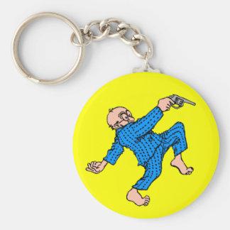 Grandpa's Got a Gun! (Personalize This!) Basic Round Button Key Ring