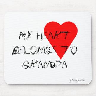 Grandpa's Heart Mousepad Mouse Pad