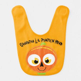 Grandpas Lil Pumpkin Head Bib