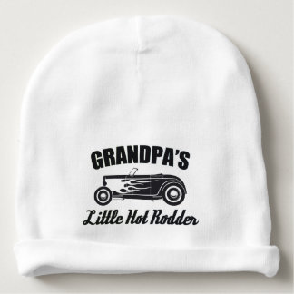 Grandpa's Little Hot Rodder Hot Rod Grandchild Car Baby Beanie