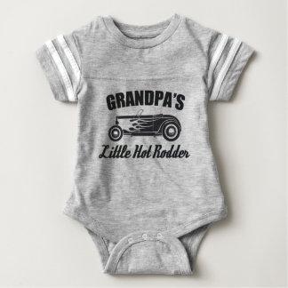 Grandpa's Little Hot Rodder HotRod Grandchild Car Baby Bodysuit
