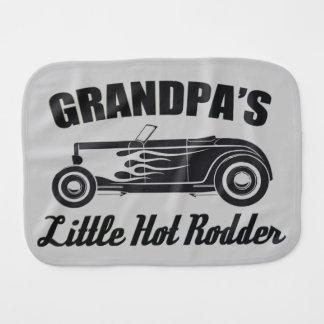 Grandpa's Little Hot Rodder HotRod Grandchild Car Burp Cloth