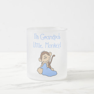Grandpa's Little Monkey - Blue Tshirts and Gifts Frosted Glass Mug