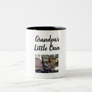 grandpa's little ones Two-Tone coffee mug