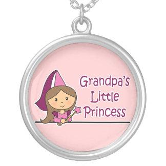Grandpa's Little Princess Silver Plated Necklace