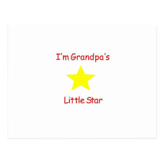 Grandpa's Little Star Postcard