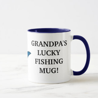 Grandpa's Lucky Fishing Mug