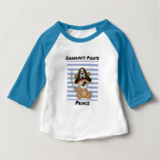 Grandpa's Pirate Prince Baby 3/4 Sleeve Baby T-Shirt