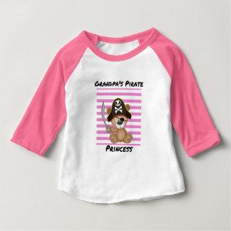 Grandpa's Pirate Princess Baby 3/4 Sleeve Baby T-Shirt