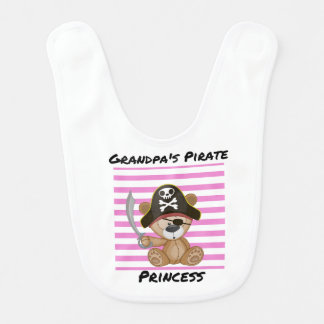 Grandpa's Pirate Princess Baby Bib