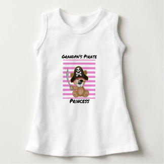 Grandpa's Pirate Princess Baby Sleeveless Dress