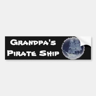 """""""GRANDPA's PIRATE SHIP"""" Bumper Sticker"""
