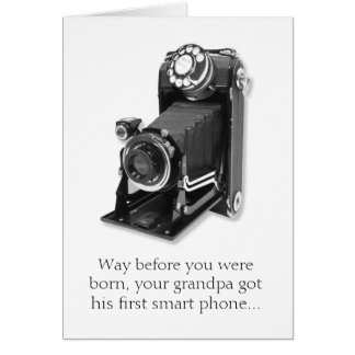 Grandpa's Smart Phone Funny Birthday Card