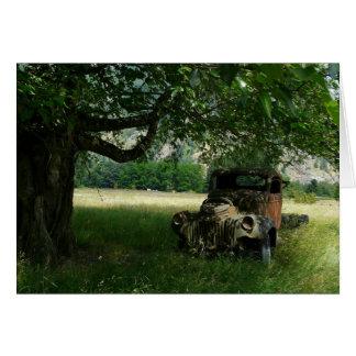 Grandpa's Truck under the Tree Card