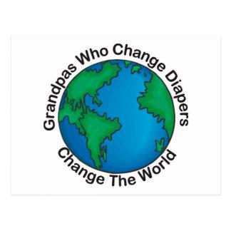 Grandpas Who Change Diapers Postcard