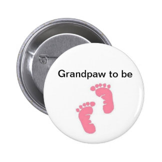 Grandpaw to be 6 cm round badge