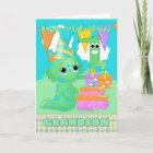 Grandson 1st Birthday Cute Little Monster Card