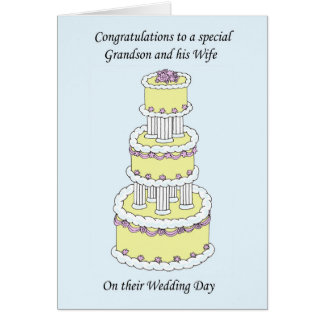 Grandson and Wife Wedding Day Congratulations Greeting Card