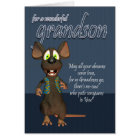 Grandson Birthday Card - With Funky Mouse