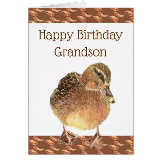 Grandson Birthday Fun Ducky Quack Quack Card