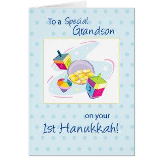 Grandson First Hanukkah Card