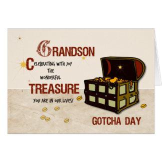 Grandson Gotcha Day with Pirate Treasure Card