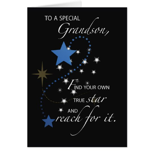 Grandson Graduation Star Congratulations Card