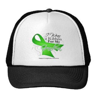Grandson Lime Green Ribbon - Lymphoma Mesh Hat