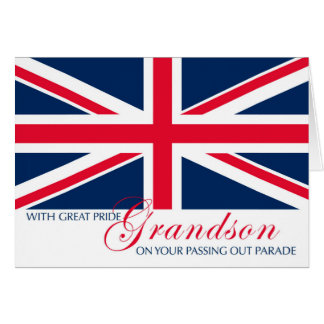 Grandson Marching in Passing Out Parade Union Jack Card
