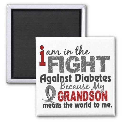 Grandson Means World To Me Diabetes Fridge Magnets