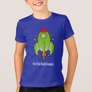 Grandson Rocket Ship Out-of-this World Tee Shirt