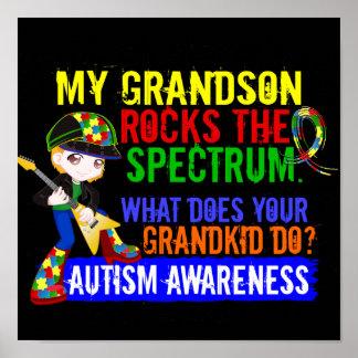Grandson Rocks The Spectrum Autism Posters