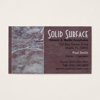 Granite and Marble Business Card