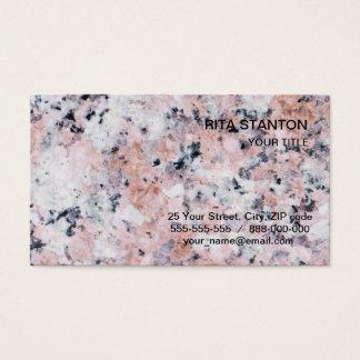 Granite pattern business card