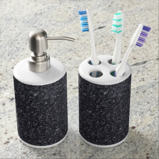 Granite Pattern Holder and Soap Dispenser