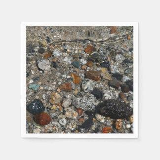 Granite Pebbles in Tenaya Lake Yosemite Nature Disposable Serviette