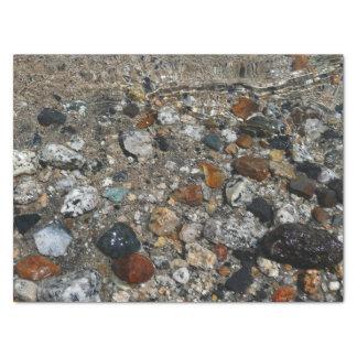 Granite Pebbles in Tenaya Lake Yosemite Nature Tissue Paper