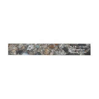 Granite Pebbles in Tenaya Lake Yosemite Nature Wrap Around Label