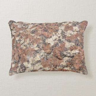Granite Rock Texture --- Pink Black White - Decorative Cushion
