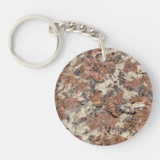 Granite Rock Texture --- Pink Black White - Key Ring