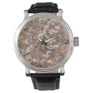Granite Rock Texture --- Pink Black White - Watch