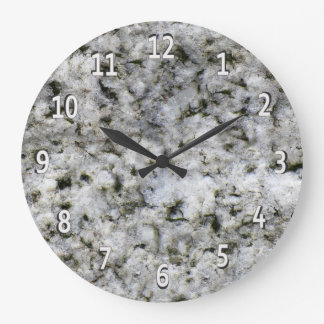 Granite Rock White with White Digits Large Clock