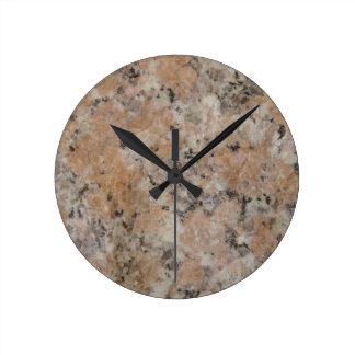 Granite Round Clock