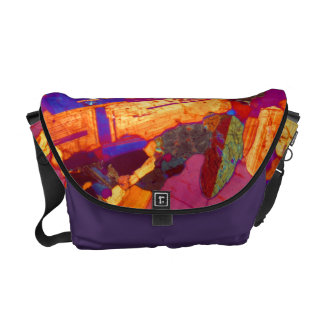 Granite Thin Section with Gypsum Plate Messenger Bags