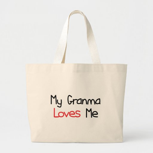Granma Loves Me Canvas Bag