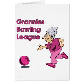 Grannies bowling league card