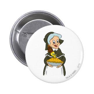 Granny and Tweety Pie 6 Cm Round Badge