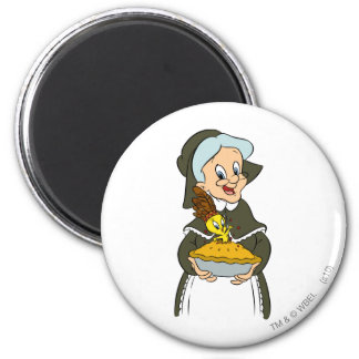Granny and TWEETY™ Pie Magnet