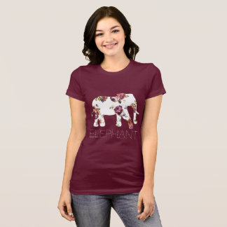 Granny Florals Patterned Elephant T-Shirt